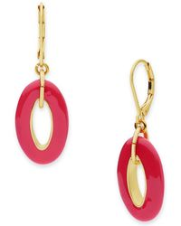 Anne Klein - Dual-toned Round Drop Euro Wire Earrings - Lyst