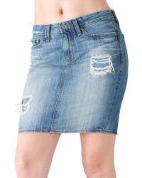 Big Star - Kara Distressed Pencil Skirt - Lyst