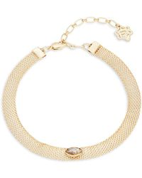 Nanette Lepore - Faceted Stone Choker Necklace - Lyst