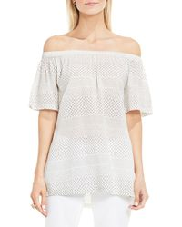 Two By Vince Camuto - Off-the-shoulder Solid Top - Lyst