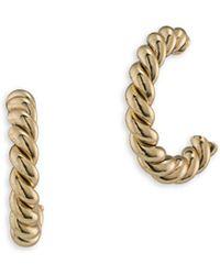 Lauren by Ralph Lauren - Perfect Pieces 12k Gold Twisted Hoop Earrings - Lyst