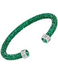Swarovski - Crystal-accented Cuff Bracelet - Lyst