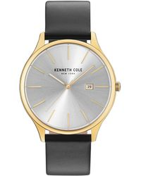Kenneth Cole - Hamilton Classic Analog & Date Leather-strap Watch - Lyst