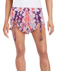 Betsey Johnson - Tie-dyed Snake Print Shorts - Lyst