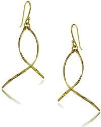 Lord & Taylor - Goldtone Twist Drop Earrings - Lyst