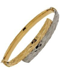 Lord & Taylor - Two Tone 14k Gold Bangle Bracelet - Lyst