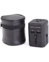 Royce - International Travel Adapter In Leather Case - Lyst
