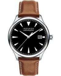 Movado - Heritage Stainless Steel Tongue Buckle Strap Watch - Lyst