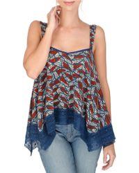 Lucky Brand - Handkerchief Crochet Camisole - Lyst