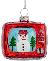 Lord & Taylor - Winter Charms Snowman Tv Ornament - Lyst