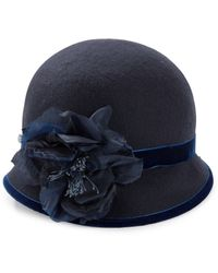 Kathy Jeanne - Floral Wool Cloche Hat - Lyst