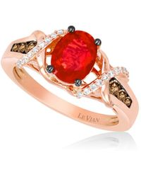 Le Vian - 0.33tcw Diamonds, Opal And 14k Rose Gold Chocolatier Ring - Lyst
