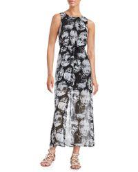 Kensie - Printed Maxi Dress - Lyst