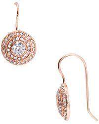 Lauren by Ralph Lauren - Round Vintage Crystal Pierced Earrings - Lyst