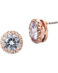 Lauren by Ralph Lauren - Crystal Stud Pierced Earrings - Lyst