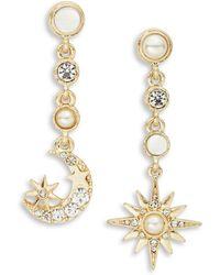 Nanette Lepore - Moon And Star Drop Earrings - Lyst