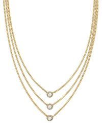 Cole Haan - Three-row Goldplated Necklace - Lyst