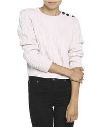 Bardot - Alpine Cropped Cable Knit Top - Lyst