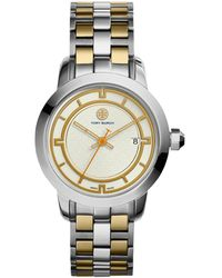 Tory Burch - Tory Two-tone Stainless Steel Bracelet Watch/37mm - Lyst