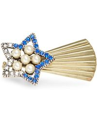 Gerard Yosca - Faux Pearl Accented Shooting Star Pin - Lyst