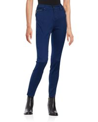 Lord & Taylor - Zip Coin Pocket Skinny Jeans - Lyst