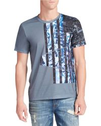 William Rast - Abstract Flag Graphic Tee - Lyst