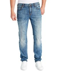 William Rast - Hixon Straight-leg Washed Jeans - Lyst
