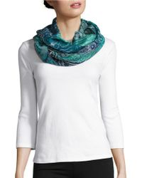 Lord & Taylor - Patterned Infinity Loop Scarf - Lyst