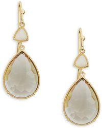 Tai - Crystal Teardrop Drop Earrings - Lyst