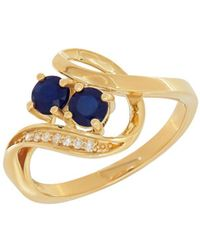 Lord & Taylor - Diamonds, Sapphire And 14k Yellow Gold Ring - Lyst