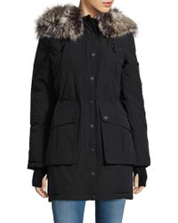 BCBGeneration - Sherpa Lined And Faux Fur Trimmed Hooded Parka - Lyst