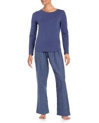 CALVIN KLEIN 205W39NYC - Long Sleeve Tee And Pyjama Trousers Set - Lyst