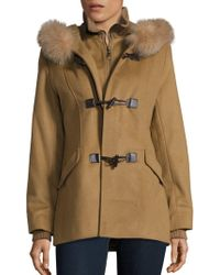 George Simonton - Fox Fur Trim Duffle Coat - Lyst