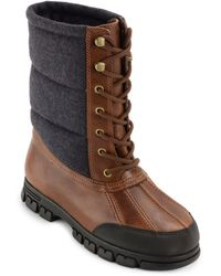 Lauren by Ralph Lauren - Quinlyn Leather Mid-calf Boots - Lyst