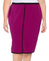 Nipon Boutique - Plus Contrast-trimmed Pencil Skirt - Lyst