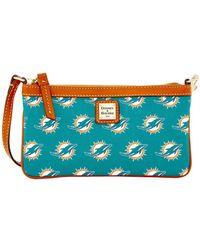 Dooney & Bourke - Miami Dolphins Slim Wristlet - Lyst