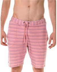 Spenglish - Striped Drawstring Shorts - Lyst