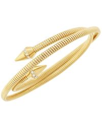 Vince Camuto - Gold-tone Spear Head Coil Bracelet - Lyst
