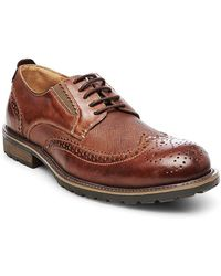 Steve Madden - Sparx Leather Wingtip Oxfords - Lyst