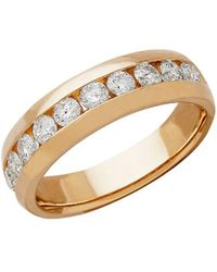 Lord & Taylor - Diamond And 14k Yellow Band Ring - Lyst