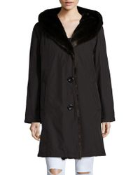 Gallery - Faux Fur-accented Rain Coat - Lyst
