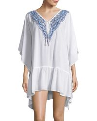 Amita Naithani - Embroidered Cover-up Caftan - Lyst