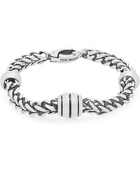 Steve Madden - Stainless Steel Wheat Chain Bracelet - Lyst