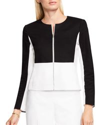 Vince Camuto - Collarless Colorblocked Jacket - Lyst