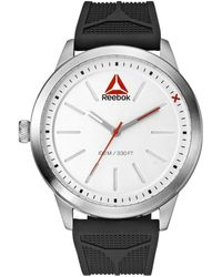 Reebok - Liftraise 1.0 Stainless Steel Case And Silicone Strap Watch - Lyst