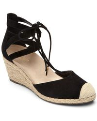 Vionic - Calypso Leather Espadrille Wedge - Lyst