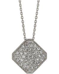 Morris & David - Diamond Pendant In 14 Kt. White Gold - Lyst