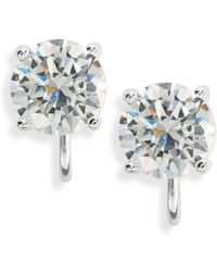 Lauren by Ralph Lauren - Cubic Zirconia Clip-on Stud Earrings - Lyst
