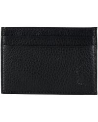 Polo Ralph Lauren | Pebble Leather Card Case With Money Clip | Lyst