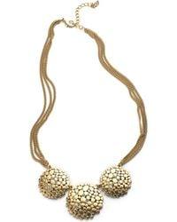 ABS By Allen Schwartz - Multi-chain Glitz And Disc Necklace - Lyst
